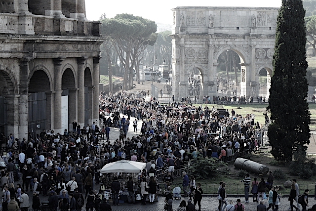 Włochy-Rzym-Koloseum-Łuk-Konstantyna