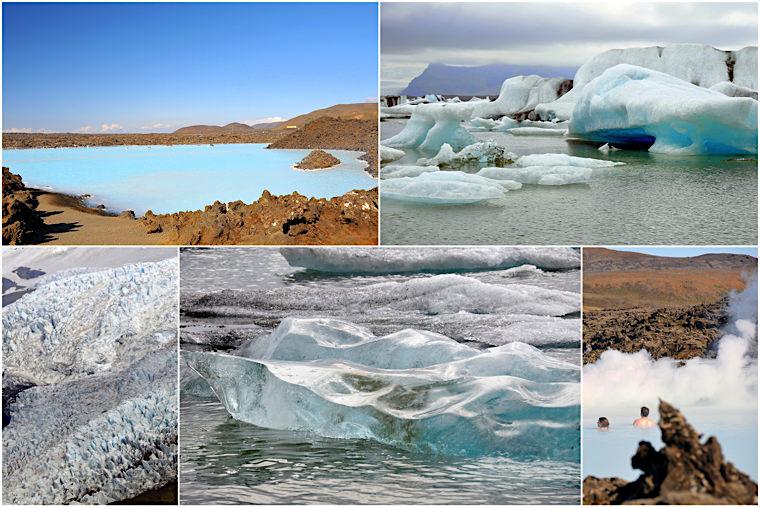 Islandia-lodowiec i błękitna laguna