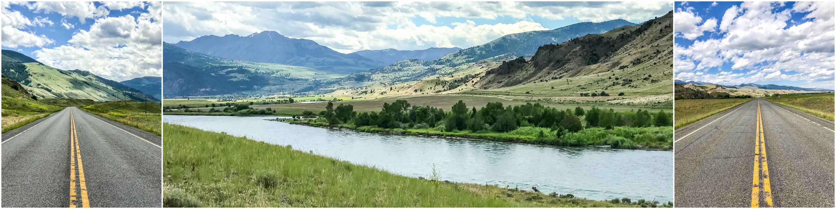 widoki w drodze do Bozeman w stanie Montana