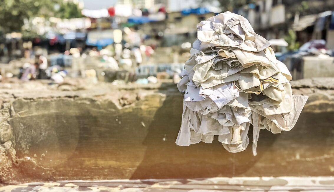 ndie Bombaj pralnia Dhobi Ghat