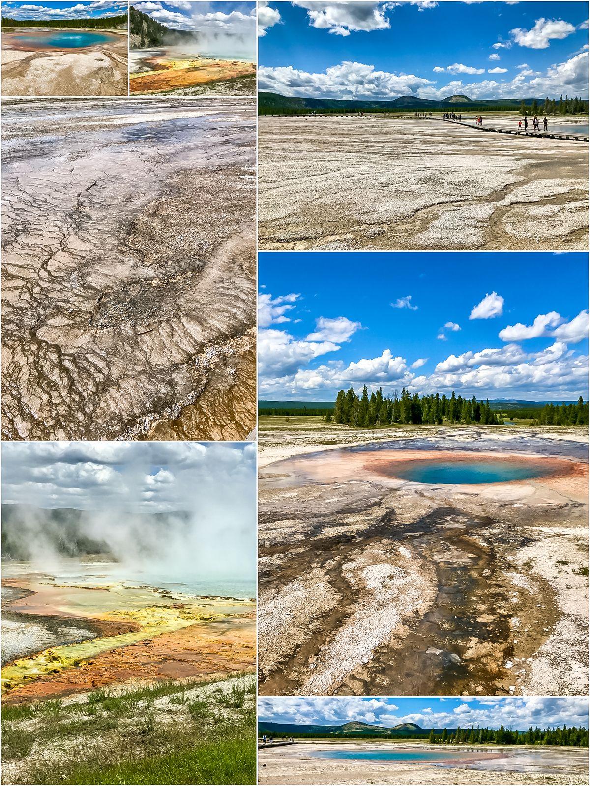 Midway Geyser Basin to największa atrakcja na szlaku gejzerów w Parku Yellowstone