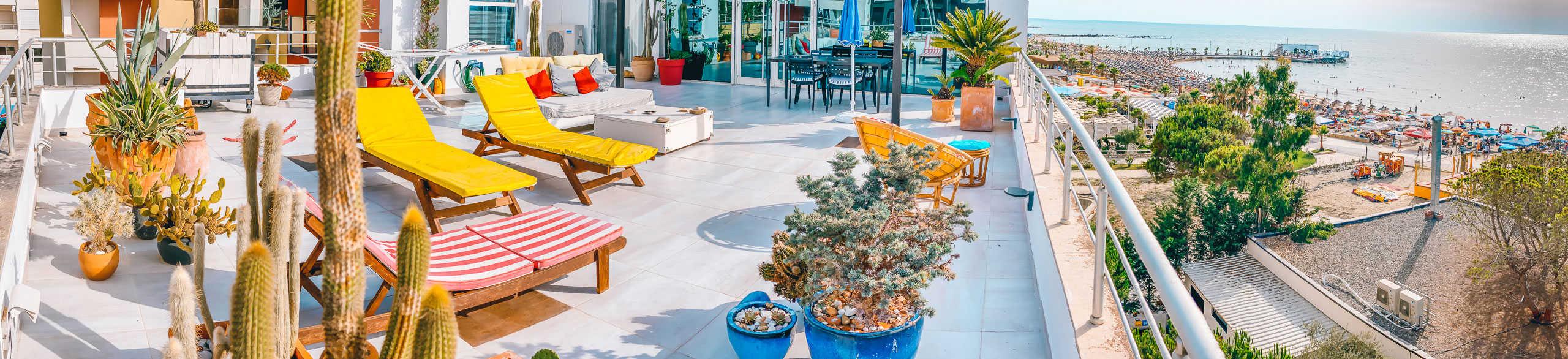 Apartments Bellavista urlop wakacje w Albanii Qerret Kavaje Durrës apartament do wynajęcia olbrzymi taras