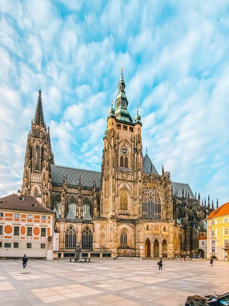 Katedra św. Wita, widok od strony południowej