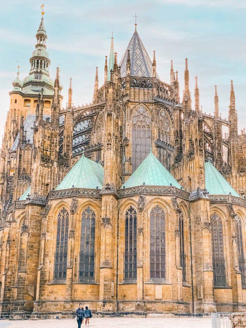 Praga Katedra św. Wita widok od strony wschodniej